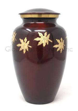 Adult Falling Leaves Cremation Urn for Ashes