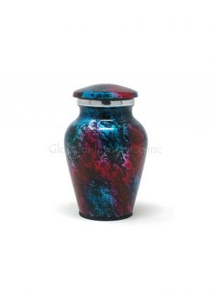 Aluminium Patriotic Shimmer Keepsake Cremation Urn for Ashes.