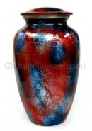 Aluminium Patriotic Shimmer Large Cremation Urn for Ashes.