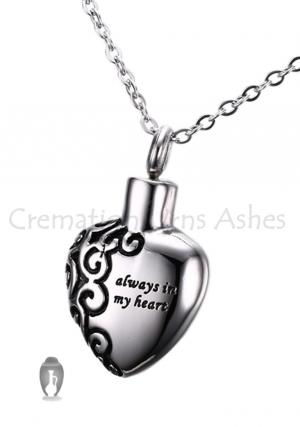 Always In My Heart Cremation Jewellery Urn Pendan