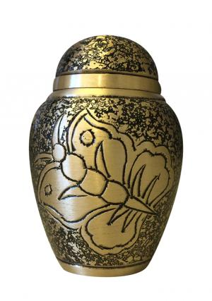 Small Antique Butterfly Funeral Keepsake Urn For Ashes UK
