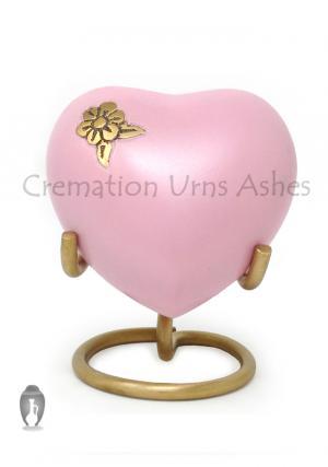 Artisan Flower Mini Heart Keepsake Memorial Urn