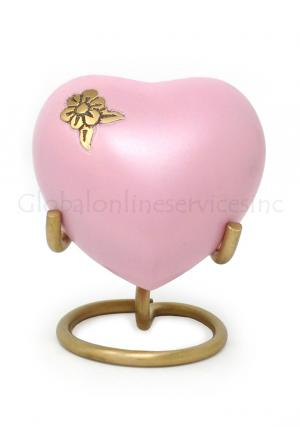 Artisan Flower Mini Heart Keepsake Memorial Urn