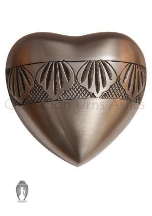 Autumn Leaves Heart Keepsake Funeral Urn for Human Ashes