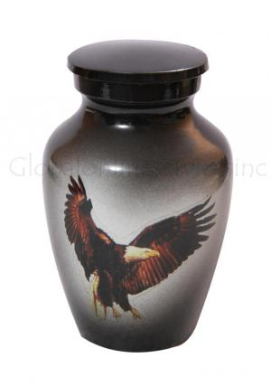 Bald Eagle Standard Little Keepsake Urn for Human Cremains