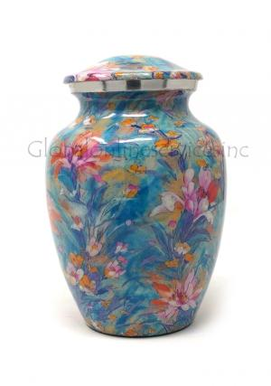 Beautiful Medium Flower Cremation Urn