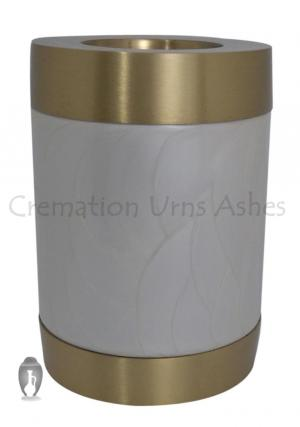 Beautiful Pearl Tealight Cremation Urn for Ashes
