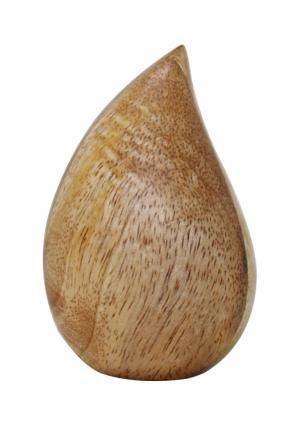Beautiful Small Wooden Teardrop Keepsake Urn for Human Ashes