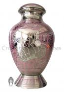 Best Pink Bear Engraved Child Funeral Brass Urn For Cremation Ashes