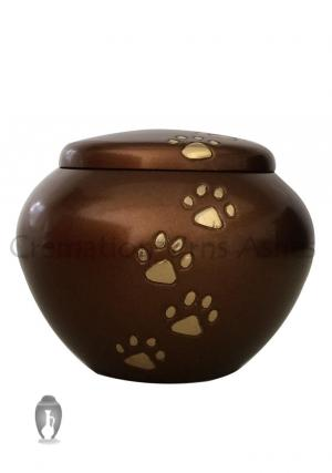Best York Brown Paw Prints Pet Funeral Brass Urn For Ashes on Sale