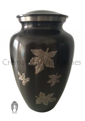 Big Classic Falling Leaves Adult Memorial Container for Human Ashes