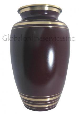 Big Elite Garnet Red Adult Cremation Urn Ashes