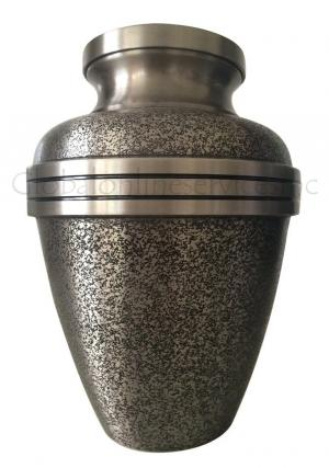 Big Harlow Black Adult Memorial Urn for Human Cremated Ashes UK