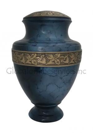 Big Midnight Iris Adult Cremation Urn for Human Ashes