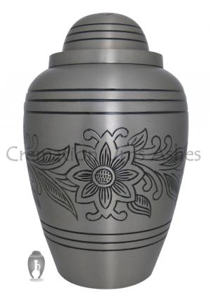 Big Pewter Bouquet Brass Adult Urn Ashes for Human
