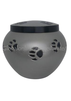 Black Band Odyssey Pewter Urn For Pet Memorial