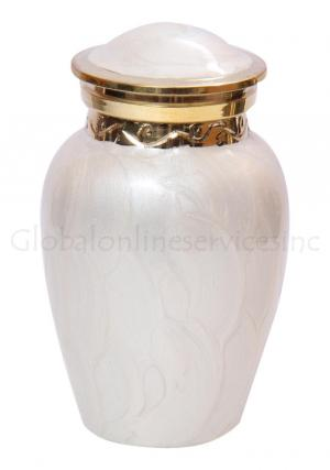 Beautiful Cremation Urns UK, Blessing Pearl Memorial Keepsake Urn for Human Ashes