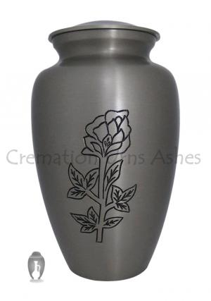 Blossming Rose Engraved Adult Urn For Human Ashes