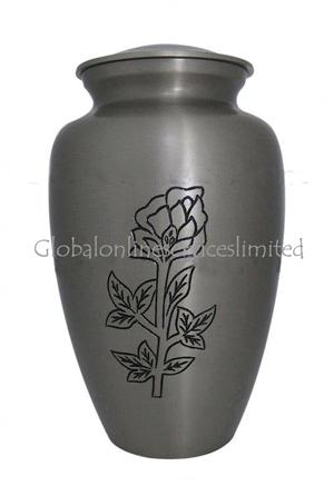 Blossming Rose Engraved Adult Urn For Human Ashes
