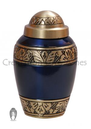 Blue Funeral Mini Keepsake Urn for Human Ashes