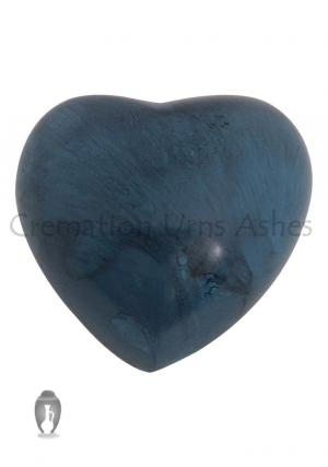 Blue Marble Aluminium Heart Keepsake Memorial Urn