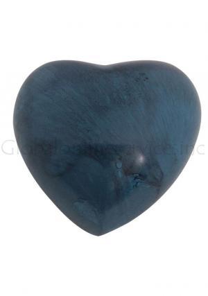 Blue Marble Aluminium Heart Keepsake Memorial Urn