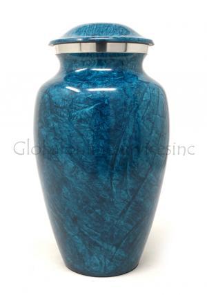 Blue Night Aluminium Large Cremation Urn for Ashes
