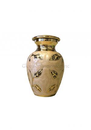 Brampton Champagne Small Keepsake Memorial Urn for Human Ashes