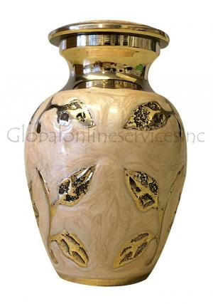 Brampton Champagne Small Keepsake Memorial Urn for Human Ashes