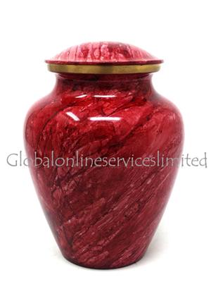 Chestnut rose spring pastel brass cremation urn for ashes