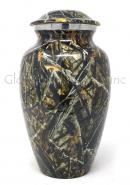 Beautiful Large Black Meadow Brass Urn For Human Cremation Ashes.