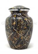 Beautiful Medium Black Meadow Aluminium Urn For Human Cremation Ashes.