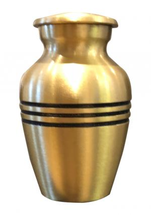 Classic Bronze Small Funeral Urn For Cremation Ashes UK (Bronze)
