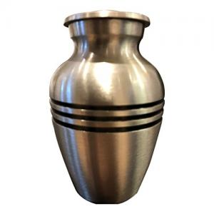 Classic Pewter Small Funeral Urn For Cremation Ashes UK (Pewter)