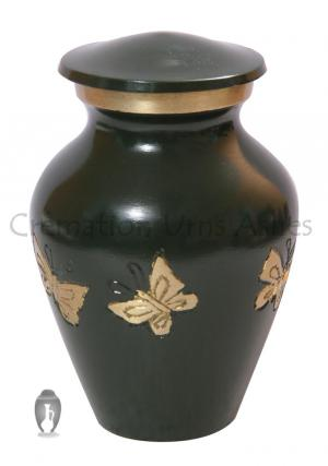 Classic Tribute Butterflies Green Keepsake Funeral Urn