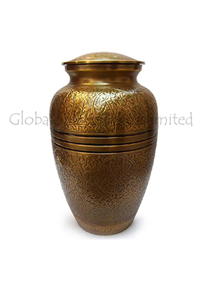 Creeping Leaves Keepsake Urn for Human Ashes (Small)