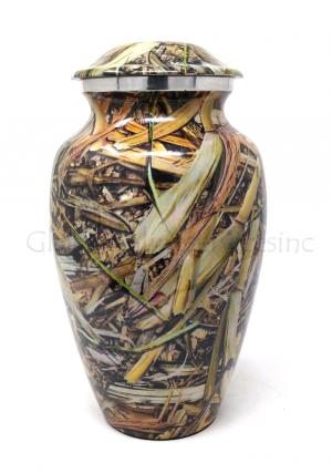 Cremation Urn Lost Camo Aluminium Big Urn