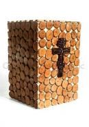 Cross Christ MDF Made Human Ashes for Cremation Urns