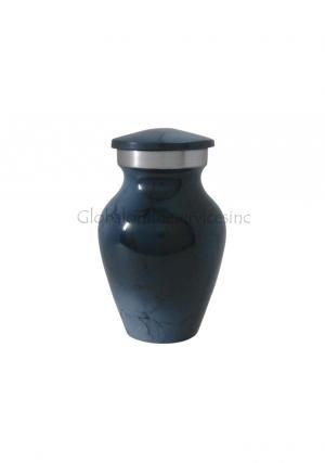 Dark Blue Mini Aluminium Keepsake Urn for Ashes