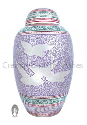 Dome Top Flying Doves Althorp Adult Cremation Urn