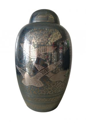 Dome Top Going Home Blue Doves Extra Large Adult Cremation Urn for Ashes