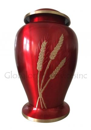 Dove Wheat Large Cremation Adult Red Urn for Ashes