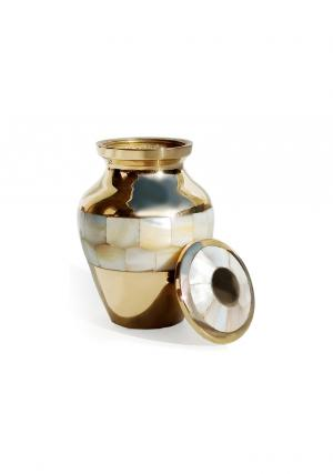 Elite Mother Of Pearl Keepsake Memorial Urn For Human Ashes UK