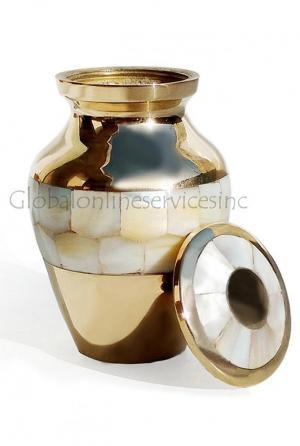 Elite Mother Of Pearl Small Keepsake Memorial Urn For Ashes UK