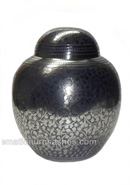 Discount Embossed Blue Infant Cremation Urn For Cremated Remains