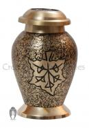 Falling Leaf Small Cremation Keepsake Container for Ashes