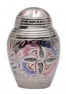 Farnham Pink Flower Engraved Dome Keepsake Cremation Urn for Human Ashes