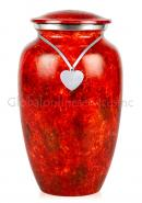 Fiery Mist Brass Large Cremation Urn for Ashes.