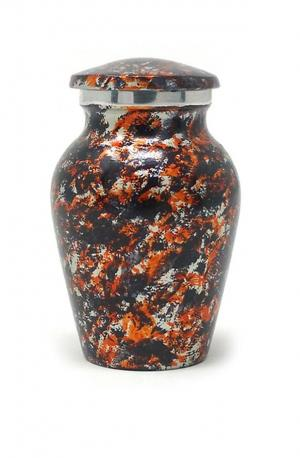 Floral Aluminium Cremation Urn Keepsake. (Small)