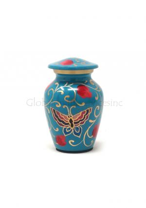 Floral Butterflies Keepsake Cremation Urn for Ashes